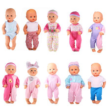 Doll Accessories 10 jumpsuits Fit 35cm Nenuco Doll Nenuco y su Hermanita Ropa Nenuco Jumpers Rompers For 13inch Nenuco Doll(China)