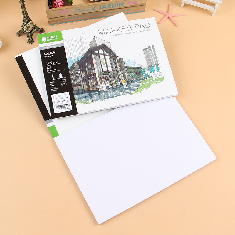 Creative Trends 160gsm A4 32 Sheets Spiral Marker Pad Sketch Book Stationery Notepad Set for Drawing Book Manga SuppliesCreative Trends 160gsm A4 32 Sheets Spiral Marker Pad Sketch Book Stationery Notepad Set for Drawing Book Manga Supplies
