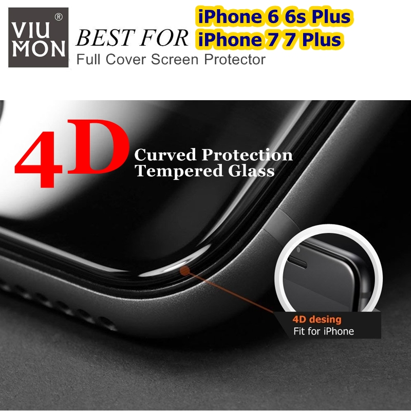 Real 4D Curved Full Cover Glass para iPhone 6 7 Protector de pantalla - Accesorios y repuestos para celulares