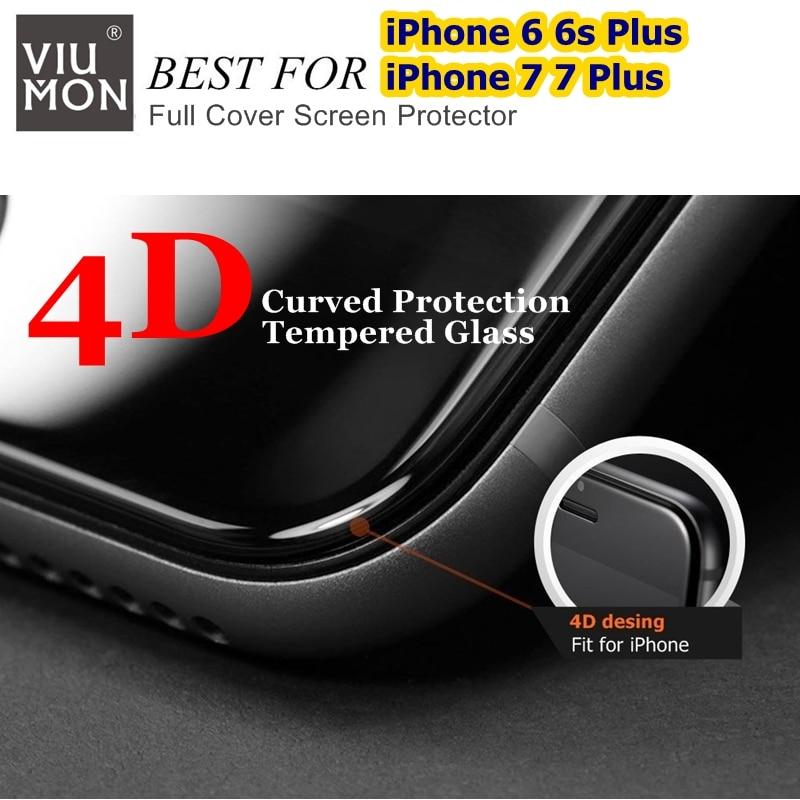 Real 4D Curved Full Cover Glass för iPhone 6 7 härdat glas - Reservdelar och tillbehör för mobiltelefoner - Foto 1