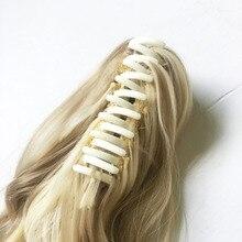 дешево✲  [DELICE] 22-дюймовый Блондин Коричневый Волнистый Конский Хвост Высокотемпературные Волокна