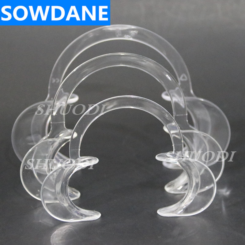 Dental Material Oral Care Teeth Whitening Orthodontic C Type Transparent Tooth Intraoral Lip Cheek Retractor Mouth Opener