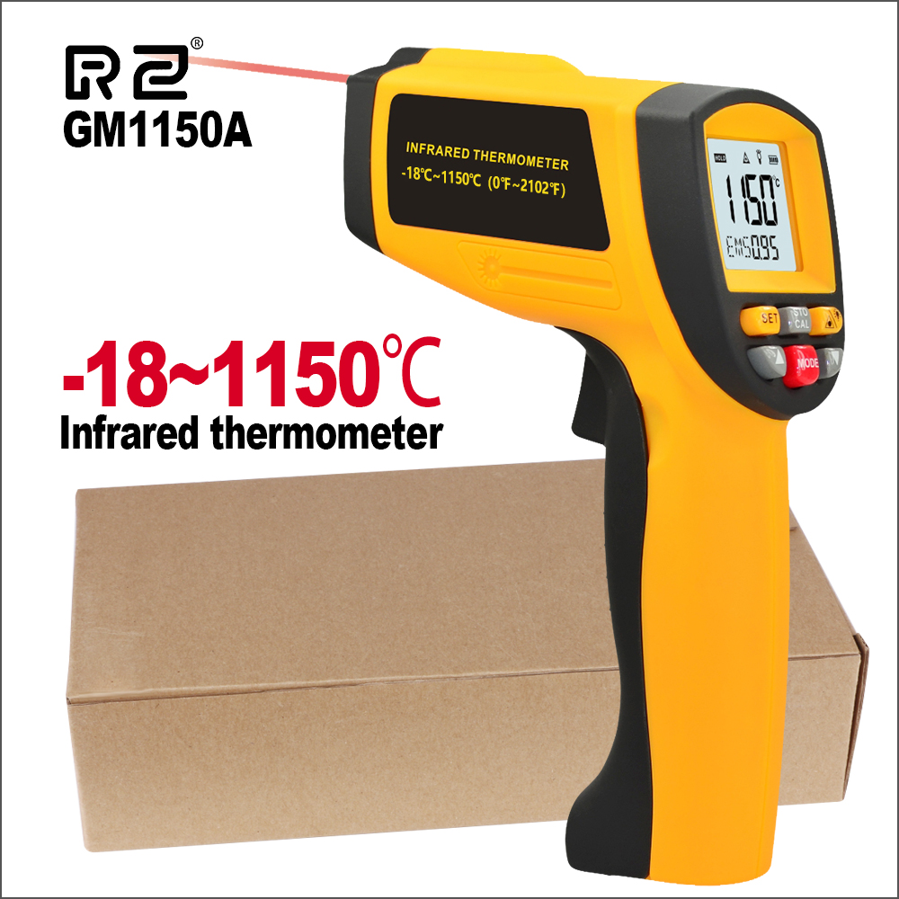 Image 3 - RZ Digital Handheld Gun Non Contact Infrared Thermometer Laser 