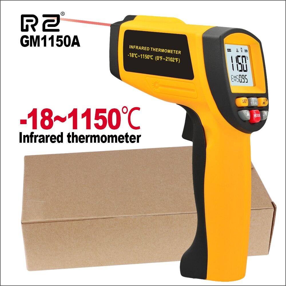 Image 3 - RZ Цифровая ручная пушка Бесконтактный инфракрасный термометр  лазерный пирометр профессиональный промышленный температурный пистолет  ИК измерительПриборы для измерения температуры   -