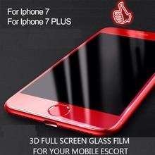 Здесь можно купить  1pcs 3D Curved Edge Full Cover Purple light Tempered Glass for Iphone 7 7 Plus Premium Screen Protector Protective Film