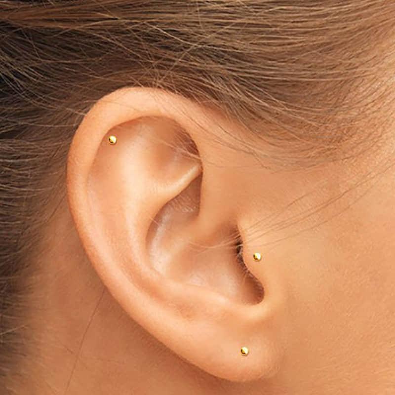 New Design 925 Sterling Silver Stud Earrings For Women Simple Trendy Mini Geometric Earrings Cute Fashion Dainty Jewelry 2020