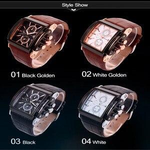 Image 2 - BOAMIGO relojes de cuarzo cuadrado para hombre, reloj deportivo informal de moda con esfera grande, Agua De Oro Rosa [roof Cock Leather, relojes de pulsera informales para hombre