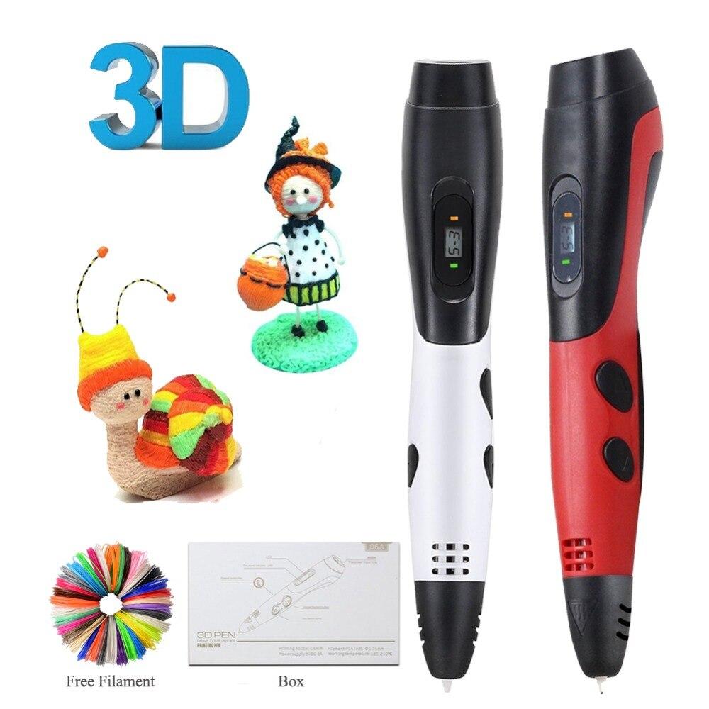 Dikale 3D Printing Pen 6th Generation ABS/PLA Filament DIY 3D Drawing Printer Pen Pencil Impresora 3D Imprimant Kid Adult Gift цены онлайн