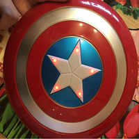 The Avengers Captain 32CM America Shield Light-Emitting & Sound Cosplay property Toy Metallic shield Red/Blue