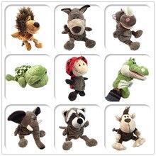 Милая мультяшная плюшевая детская игрушка Ники Бегемот Божья коровка волк Жираф енот крокодил стерео ручная кукольная детская история