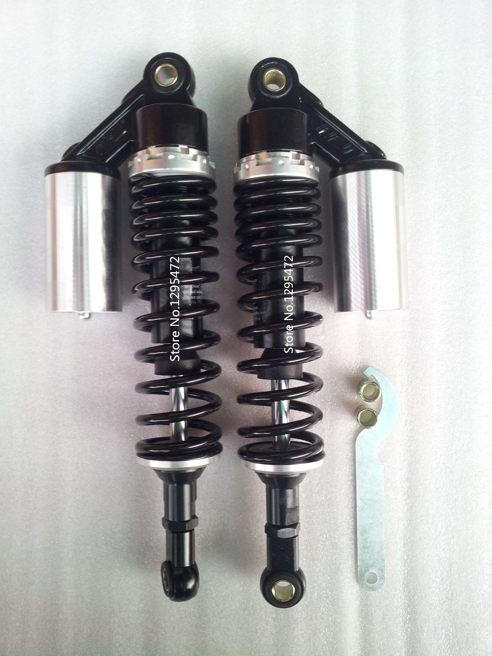 "13.5"" 340mm 8mm Spring Air Shock Absorber For Gn400 Vmax Cb400 Quad Atv Black+silver More Discounts Surprises"