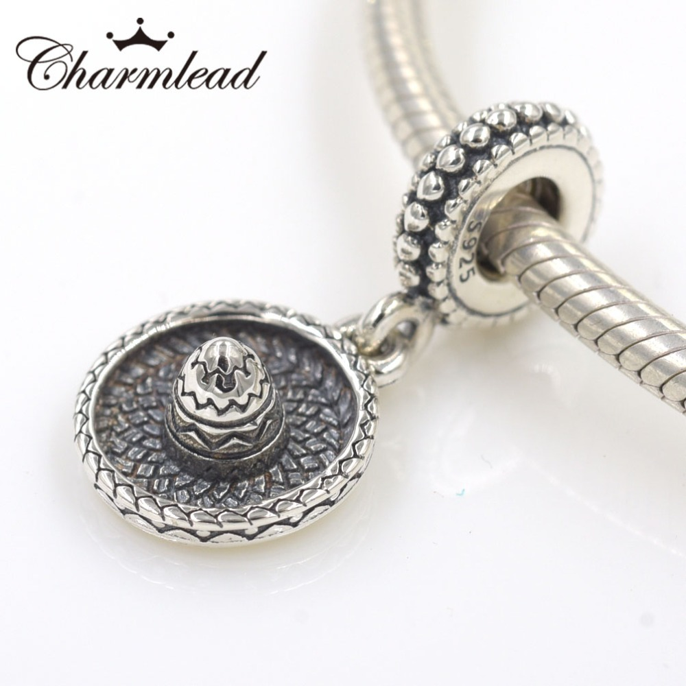 Us 13 17 Charmlead 925 Sterling Silver Beads Sombrero Charm Pendant Fits Pandora Bracelet Charms Diy Jewelry For Women Bracelets In From