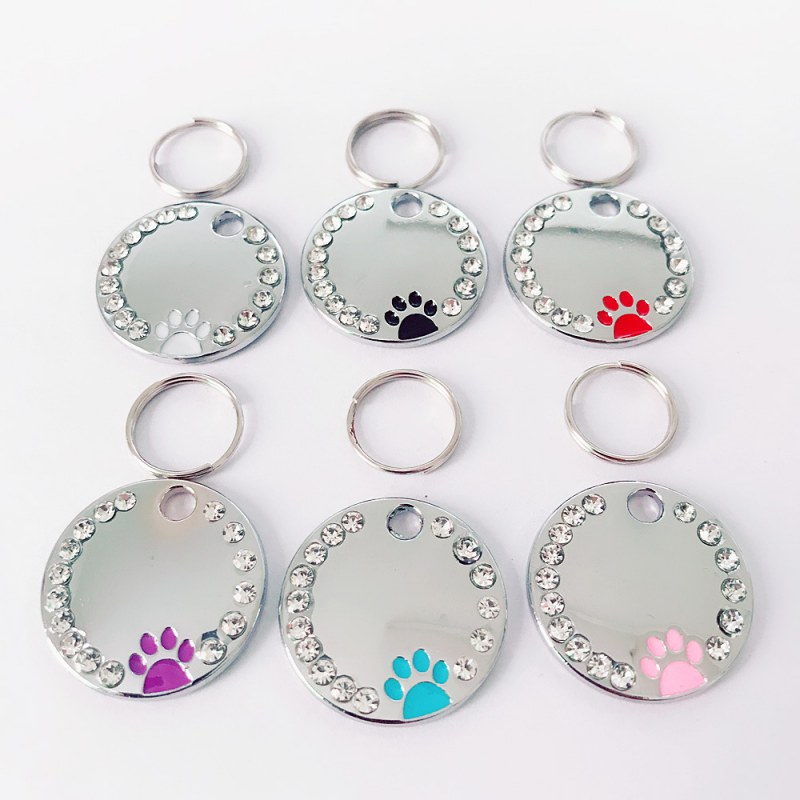 Dog ID Tags Stainless Steel Pet ID Tags for cats and dogs Collar Accessories Dog Tag Cat Pet Tag Collar Accessories