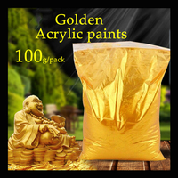 100g/pack Gold pearl pigment dye ceramic powder paint coating Automotive Coatings art crafts coloring for leather