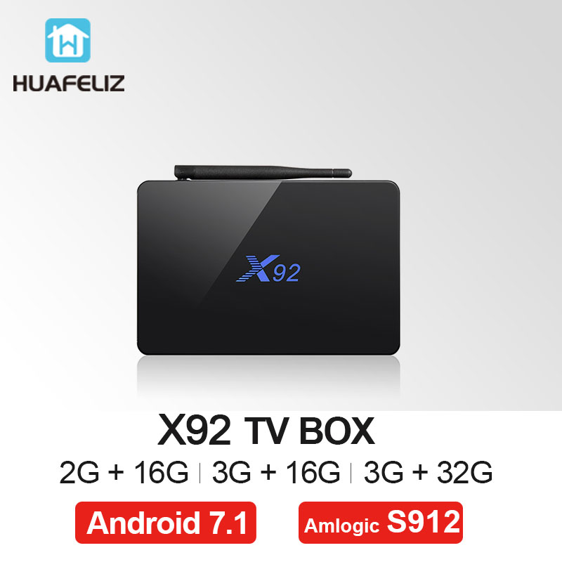 X92 Amlogic S912 Smart TV Box Android 7.1 4K WIFI Media Player Octa-core HDMI 2.0 3G 32G BT Set-top Box And mini keyboard 10pcs vontar x92 3gb 32gb android 7 1 smart tv box amlogic s912 octa core cpu 2 4g 5g 4k h 265 set top box smart tv box