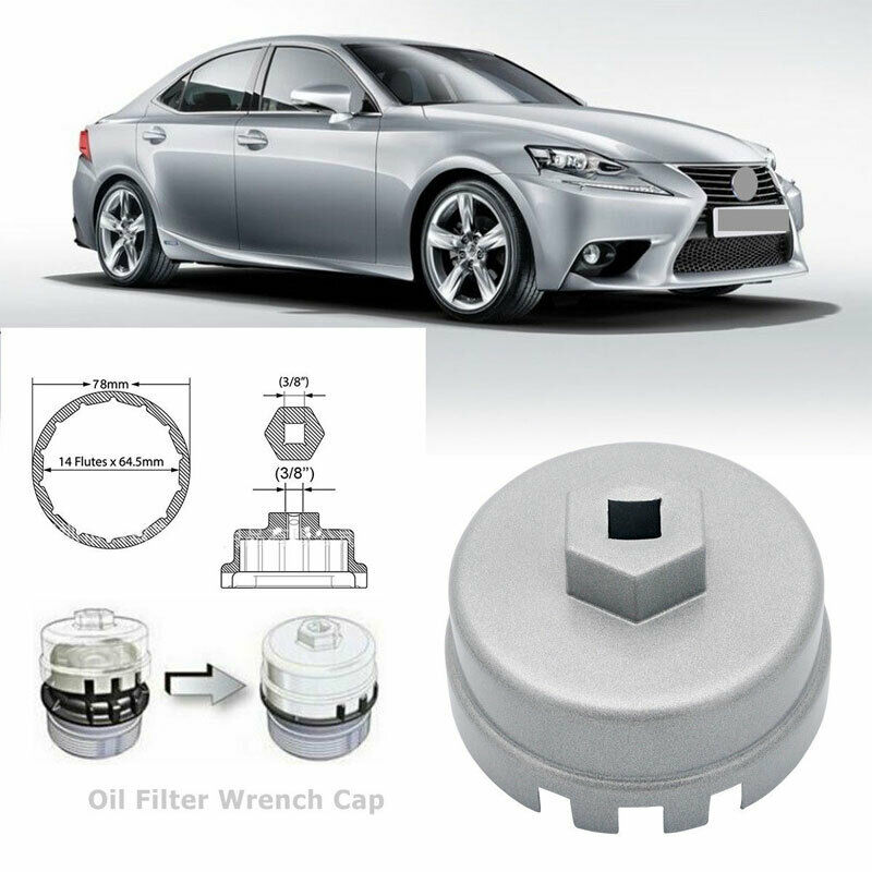 Oil Filter Wrench Cap Housing Tool Remover 78mm 14 Flutes For Toyota Lexus