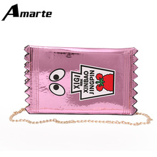 2019 Spring New Women Messenger Bags Cute Candy Package Little Clutch Bag Cartoon Lovely Chain Bags for Young Girls 2018 new and creative messenger bag with the shape of ice cream cute chain bag designed for lovely girls