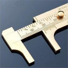Cheaper Mini copper double scale vernier calipers 0-80MM ruler meter inch two scale for jewelry Walnut Bodhi