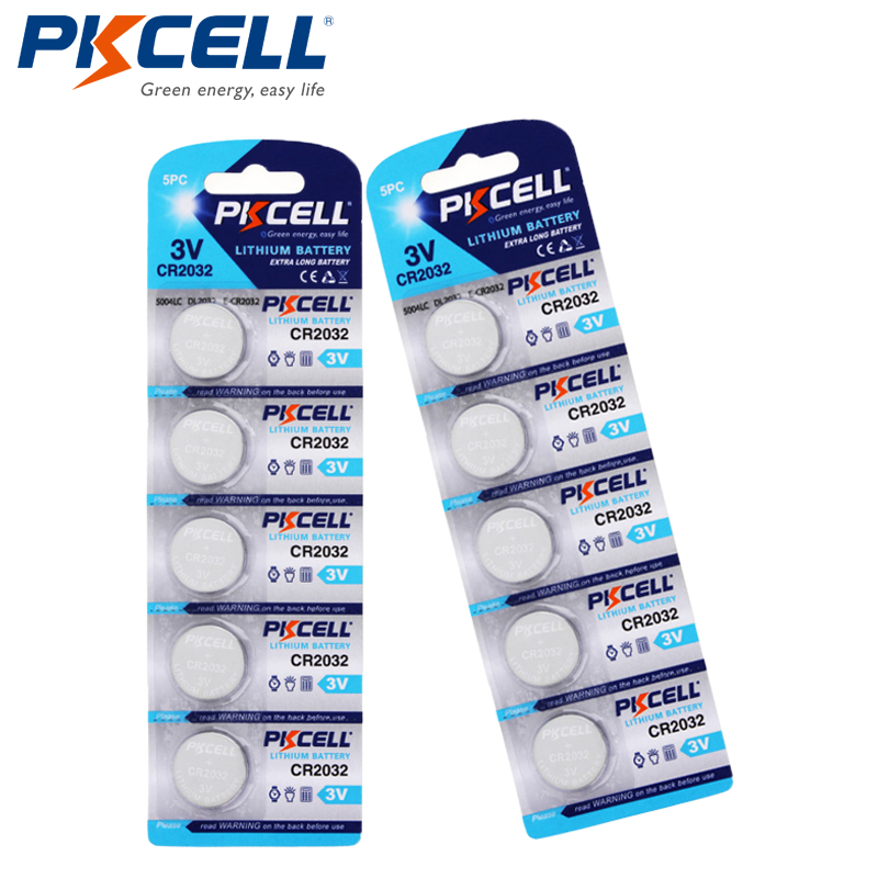 10pcs/2pack CR2032 Button <font><b>Batteries</b></font> BR2032 DL2032 ECR2032 Coin Cell 3V Lithium <font><b>Battery</b></font> CR <font><b>2032</b></font> For Remote Watch Electronic Toys image