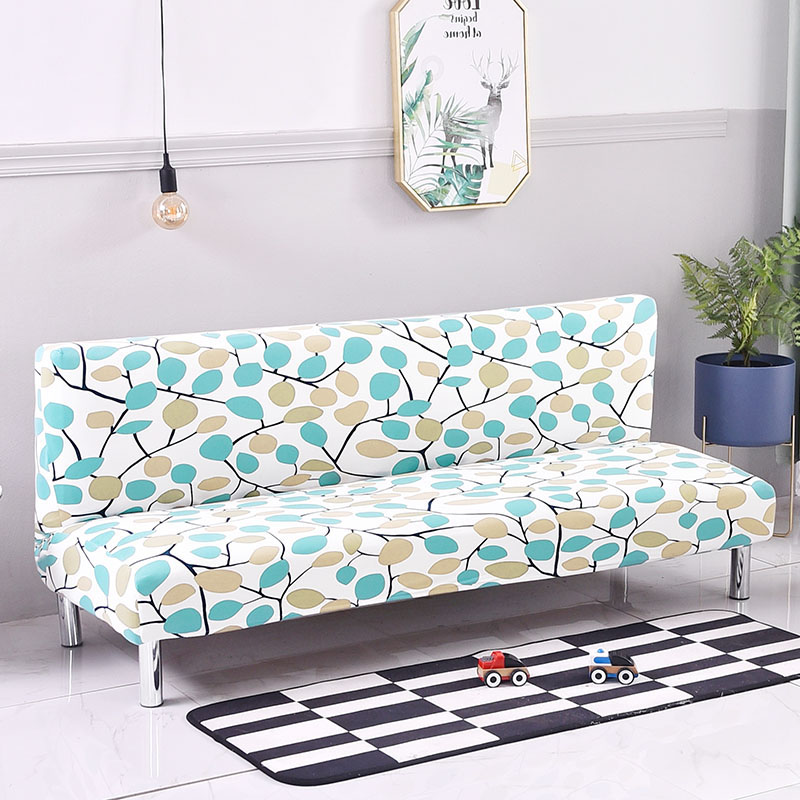 Home Textile Modern Without Armrest Sofa Cover Multifunction Sofa Slipcover Big Fabric Elastic Anti-mite 160-210cm Blue Shaped Sofa Bed Cover Sale Price