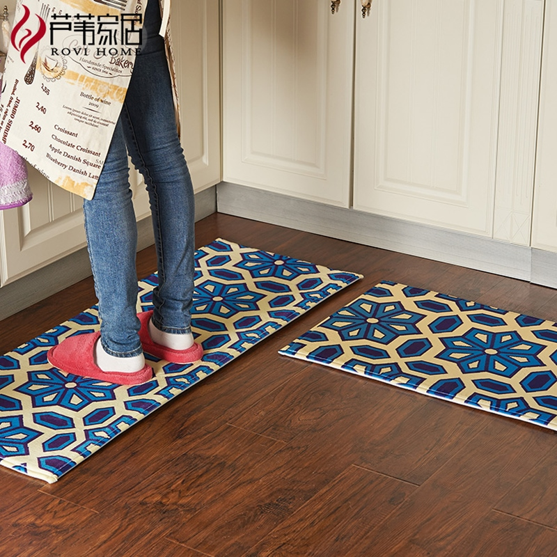 50X80 + 45X120 CM/Set tapis de cuisine accueil entrée/couloir paillasson anti-dérapant salle de bain tapis enfants chambre tapis et tapis