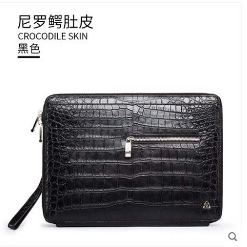 gete 2019 new New Thai crocodile belly hand bag mens leather large capacity wrist bag crocodile bag mens clutch baggete 2019 new New Thai crocodile belly hand bag mens leather large capacity wrist bag crocodile bag mens clutch bag