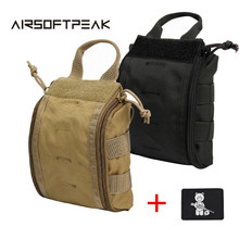 AIRSOFTPEAK Tactical Molle Medical Kit Pouch Emergency Survival Gear Bag First Aid Kit Pouch Tool EDC Hunting Utility Belt Bag