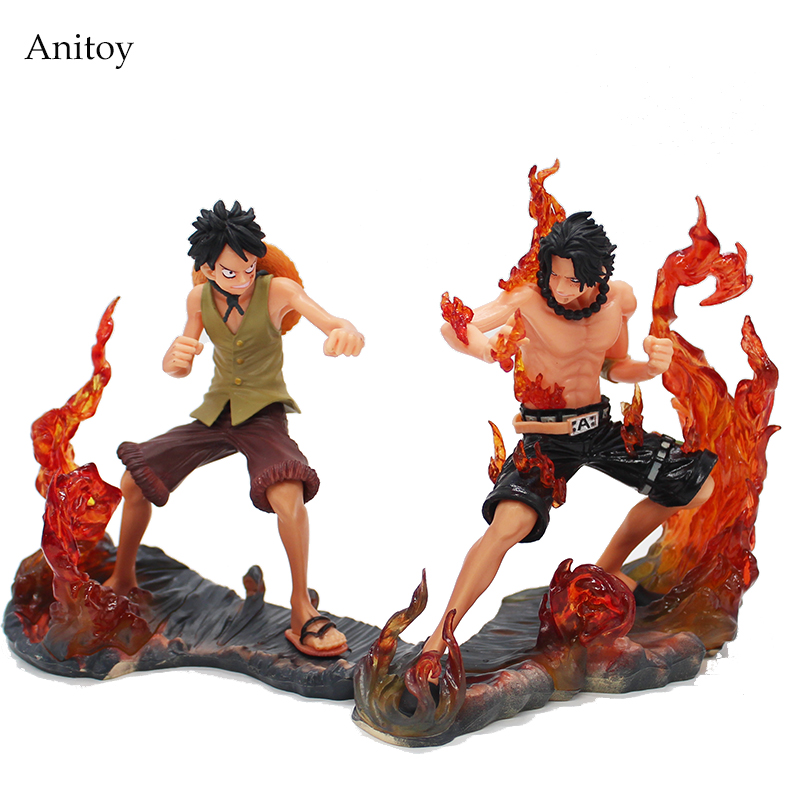 14cm Japanese Anime Cartoon One Piece 2 Years Later Luffy VS Ace PVC Action Figure Toys Dolls 2pcs/set KT3997 fashion mummy bag travel baby diaper bag large capacity multifunctional baby diaper backpack red