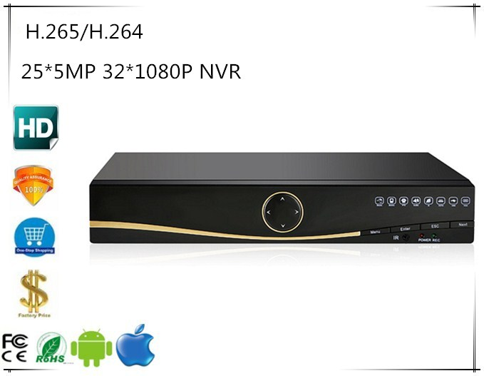 25 5MP 32 1080P H 265 H 264 NVR DVR Network Digital Vidoe Recorder Intelligent Analys