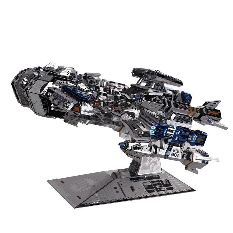 MMZ MODÈLE MU 3D Métal Puzzle Étoiles artisanat Terran Bataille Croisière YM-M015 DIY 3D Métal Puzzle Kits Laser Cut Modèle puzzle Jouets