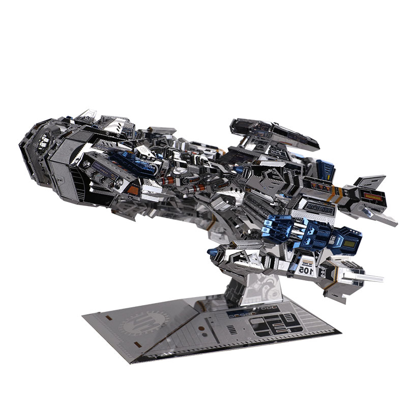 MMZ MODEL MU 3D Metal Puzzle Star craft Terran Battle Cruise YM-M015 DIY 3D Metal Puzzle Kits Laser Cut Model Jigsaw Toys mu bumblebee t6 diy 3d metal puzzle assemble model kits laser cut jigsaw toys ym l066