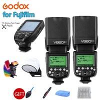 2X Godox V860II F Camera Flash Speedlite V860II TTL HSS Li ion Battery + XPRO F Trigger for Fujifilm X Pro2 1 X T20 X T10