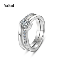 YaHui stainless steel ring women silver simple high quality rings for women fashion jewelry jewelry accessories wedding set ring yahui stainless steel simple heart gold silver rose gold ring rings for women accessories jewellery gifts for women jewellery