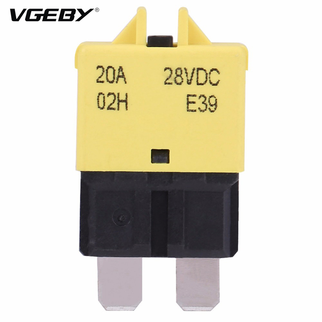 20a 28v dc manual reset circuit breaker blade fuse with button for rh aliexpress com