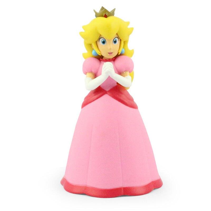 1Pcs Super Mario Pink Princess Peach Figures Toys Model Dolls 5 12cm Free Shipping