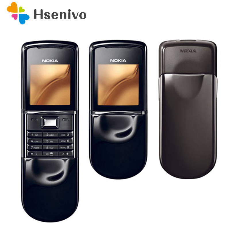 Original Nokia 8800 Sirocco 128MB Phones English / Russian Keyboard GSM FM Bluetooth Phone Gold Silver Black Refurbished
