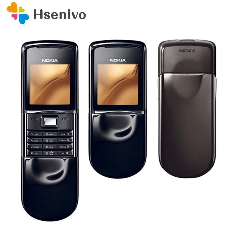 Téléphones d'origine Nokia 8800 sirocco 128 MB clavier anglais/russe téléphone GSM FM Bluetooth or argent noir remis à neuf