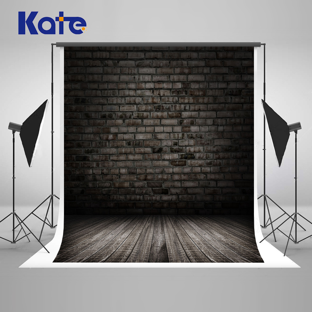Kate Black Brick Wall Backdrops For Photography Studio Wood Wall Children Photo Backgrounds Seamless Photography Backdrops Black photography backdrops wood grain adhesion wood brick wall backgrounds for photo studio floor 849