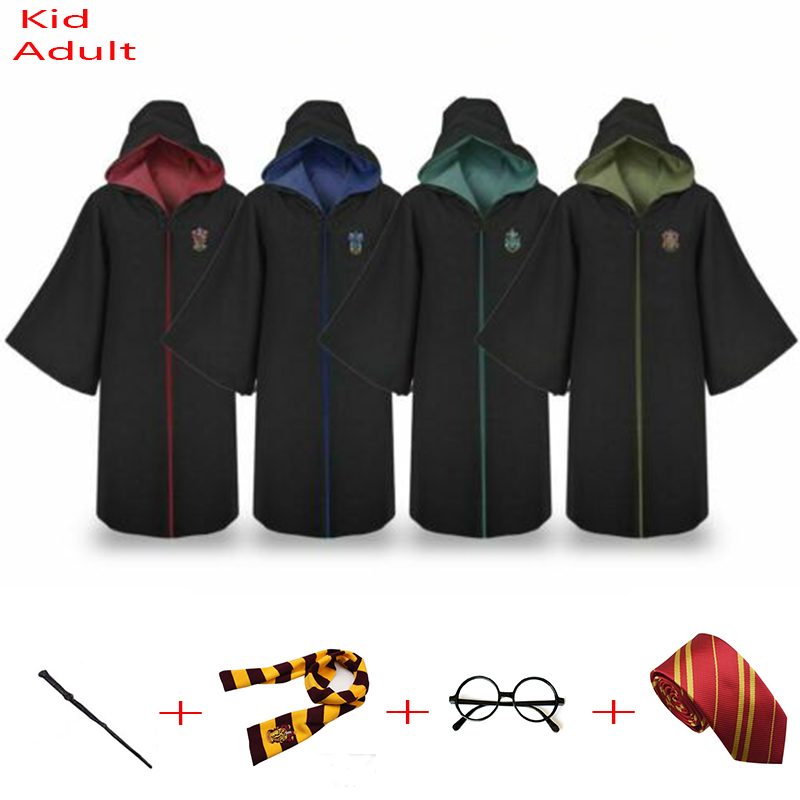 de8a0af3d935 Harri Potter Robe плащ-накидка Гриффиндор/слизеринрейвенкло/халат Хаффлпафф  Детский костюм для косплея взрослому подарок на день рождения