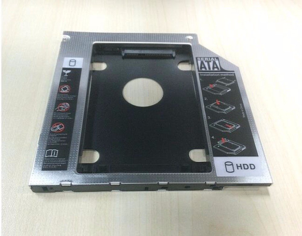 2nd HD HDD SSD Hard Drive Caddy for Dell Inspiron N7010 DS-8A5SH dvd