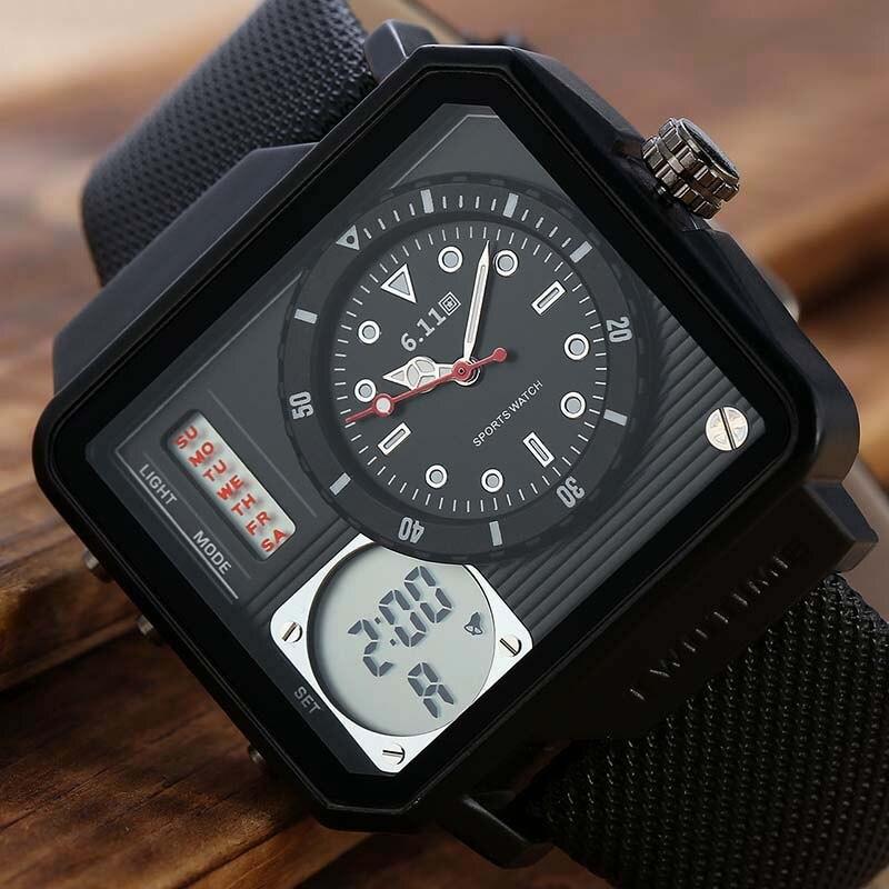 4f9dd7dbfbc Nova Marca de Luxo Relógio Militar Esportes Dos Homens Relógios de Quartzo  dos homens LEVOU Horas