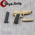 "1/6 Scale M1911 Model Sand Color Model Weapon Gun Fit For 12"" Action Figure Toys Collections Gifts Accessory (can not launch) C"