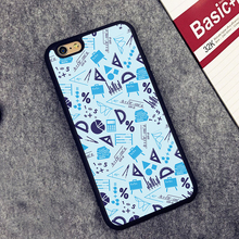 Geometry Ruler Science Printed Soft Rubber Mobile Phone Case OEM For iPhone 6 6S Plus 7 7 Plus 5 5S 5C SE 4 4S Back Cover Shell