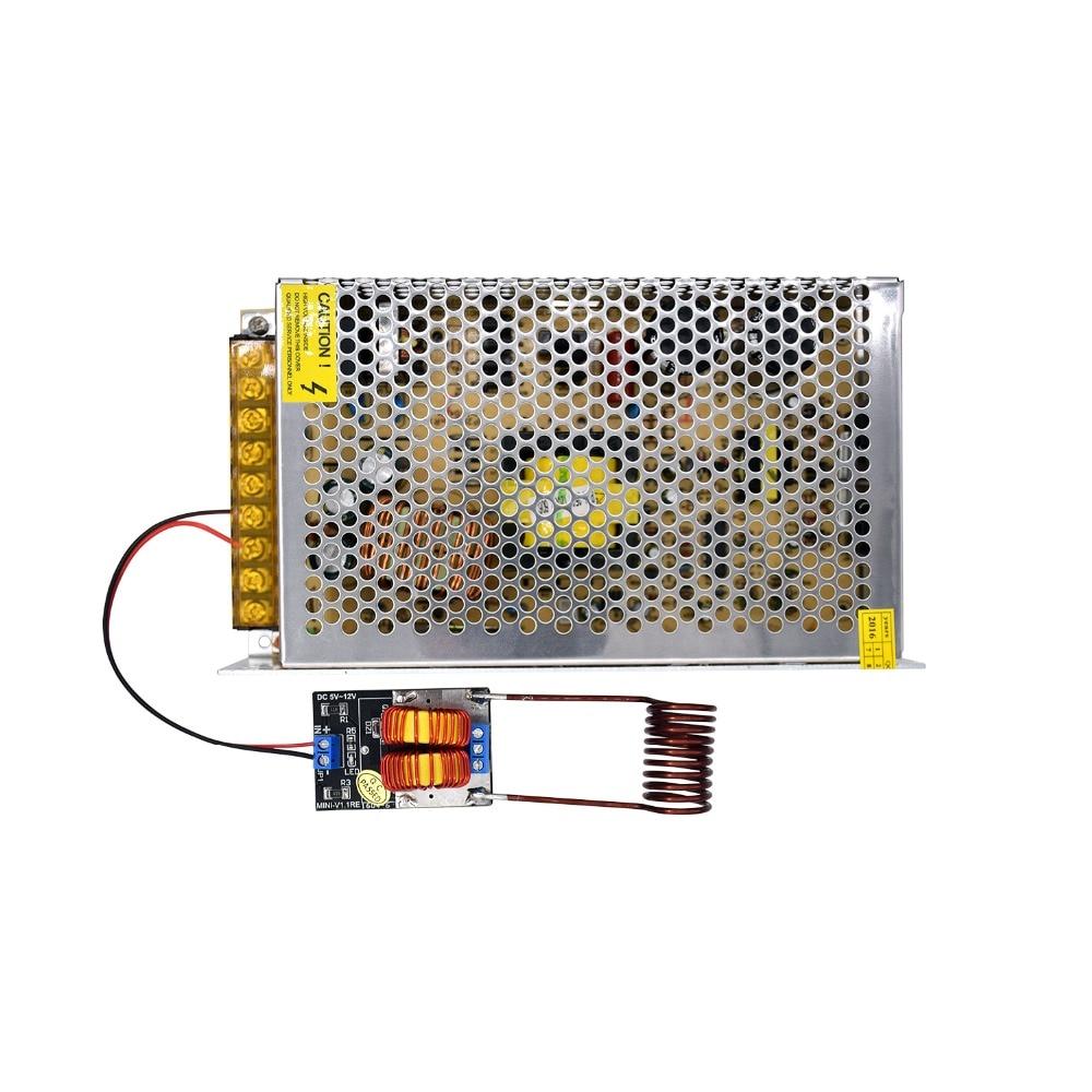 Module d'alimentation de chauffage par Induction ZVS 5-15 V avec bobine + adaptateur de transformateur de chargeur d'alimentation