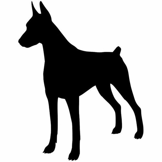 11 915 2cm doberman pinscher dog window decoration vinyl decal car bumper stickers black