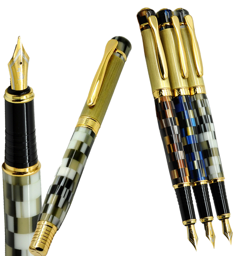 Wholesale pens 12pcs/lot M Nib  Fountain Pen sumptuous amber style  3 colors to choose Kaigelu 336   FREE  SHIPPING fountain pen m nib hero 1508 dragon clip signature pens the best gifts free shipping