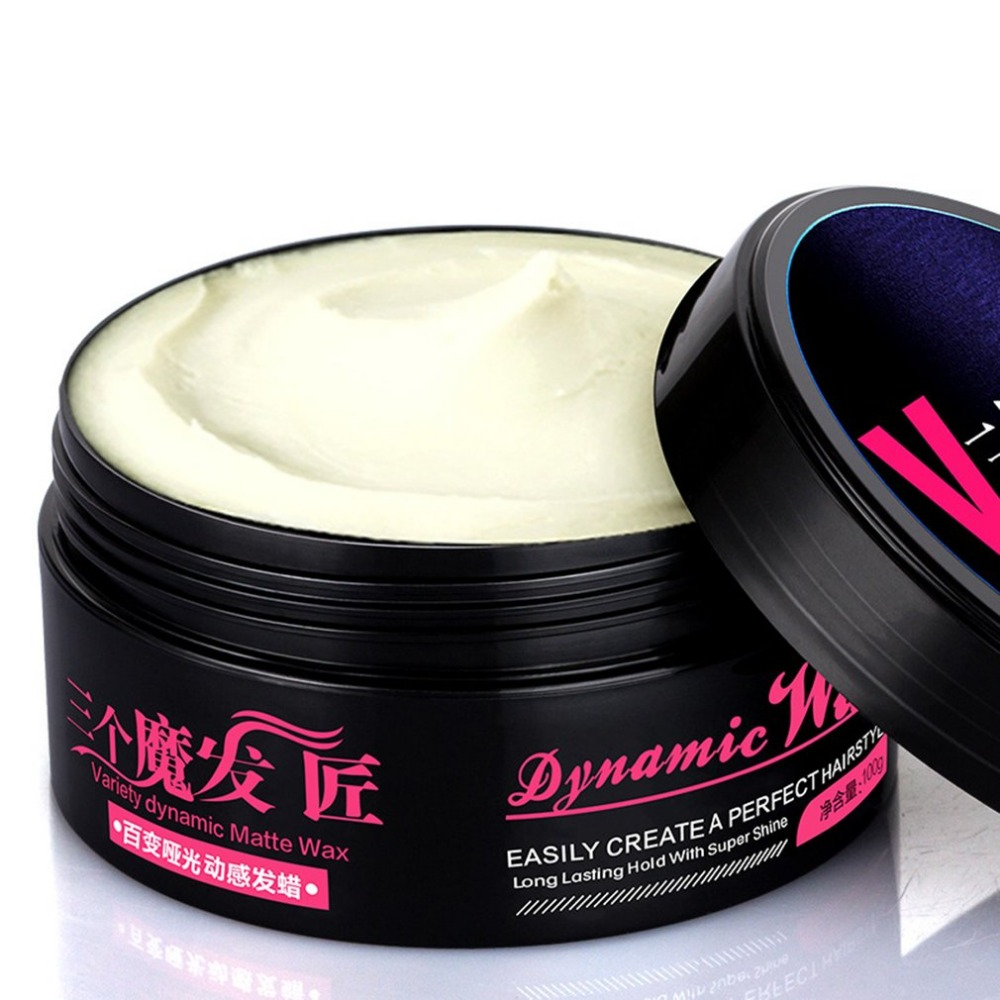 Matte Texture Hair Cera Fashion Men Styling Wax Portable Hair Moisturizing Lasting Wax Hair Salon Accessories Hot Sale