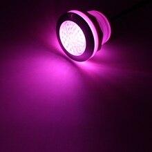 16pcs X עמיד למים RGB LED אמבטיה אור LED חם מנורת אמבטיה חור גודל 53 55 60mm LED ספא אור בריכת מנורה 4pcs בקר 4 מתאם
