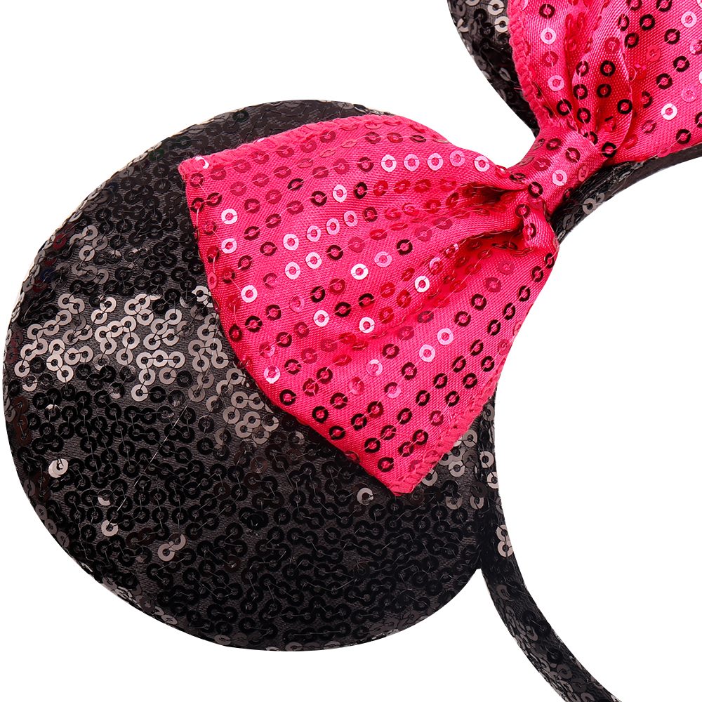 Headwear Hairband Sequin Bow Headband for Girls Minnie Mouse Ears Hairbands Birthday Party Kids Fashion Hair Accessories 8