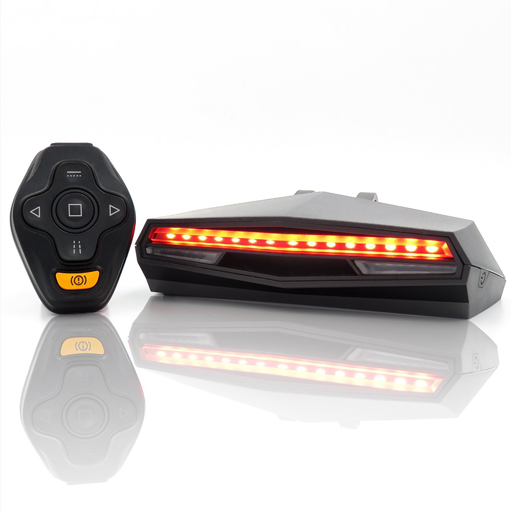 Remote Control Turn Signal Led Bicycle Rear Novelty Light USB Rechargeable Smart Cycling Accessory Wireless Bike Tail Light Y30